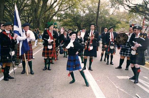 Bagpipers Irish Dancing
