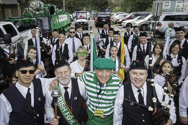 Baton Rouge Pipes and Drums participate in St. Pat's Parade